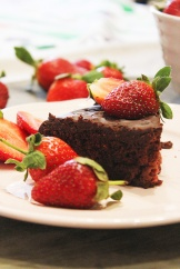 choclate strawberry cake 1